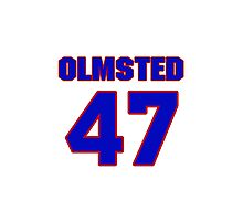 National baseball player Al Olmsted jersey 47 Photographic Print