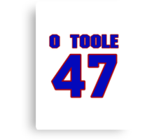 National baseball player Denny O'Toole jersey 47 Canvas Print