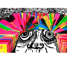 Colourful crazy drawing Photographic Print