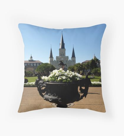 Church Yard Throw Pillow
