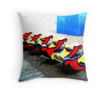 Beach Toys Throw Pillow
