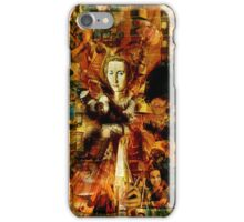 The Collage Maker in a Welsh City High Rise Flat. iPhone Case/Skin