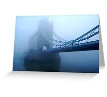 London Smog Greeting Card