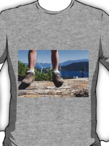 Female hiker in hiking boots T-Shirt