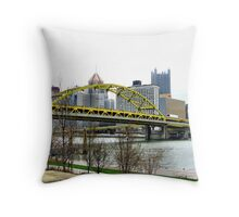 Fort Pitt Bridge, Pittsburgh Throw Pillow