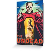 The Undead 1957 Original Poster Artwork Greeting Card