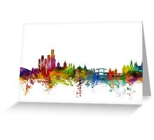 Amsterdam The Netherlands Skyline Greeting Card