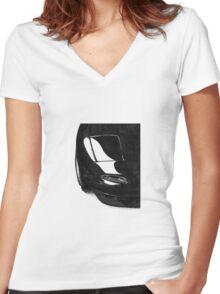 Mazda Miata NA sketch Women's Fitted V-Neck T-Shirt