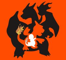 Charmander - Charmeleon - Charizard Kids Clothes