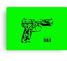 Pistol tribal Canvas Print