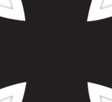 Iron cross in black. Sticker