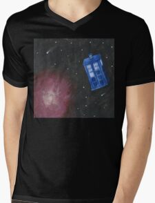 Galaxy Tardis Mens V-Neck T-Shirt