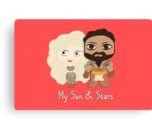 Game of Thrones Valentines: My Sun and Stars Canvas Print
