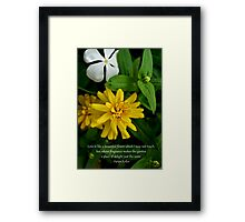 She saw the flowers and smelled their perfume Framed Print