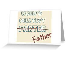 World's Greatest Father Greeting Card