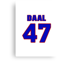 National baseball player Omar Daal jersey 47 Canvas Print