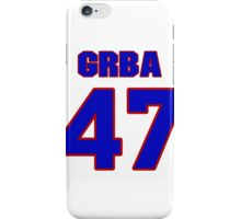 National baseball player Eli Grba jersey 47 iPhone Case/Skin