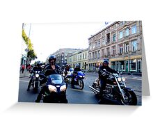 Art Deco Bikers Greeting Card