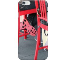 Sitting Cross Legged On The Red Chair iPhone Case/Skin