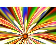 Psychedelic Daisy Photographic Print