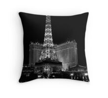 Eiffel Tower at Night, Las Vegas Throw Pillow