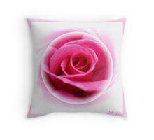 Blushing Pink Throw Pillow