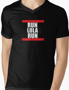 Run lola run  DMC mashup Mens V-Neck T-Shirt