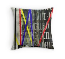 Coloured reflections Throw Pillow