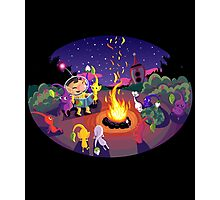 Nintendo Pikmin and Olimar Campfire Photographic Print