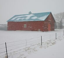 Snowy Day on the Farm by Patricia Montgomery