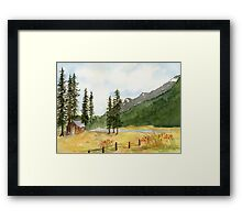 Mountain Meadow Solitude Framed Print