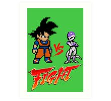Goku Vs Frieza 8MB Art Print
