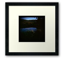 Holga madness......little clouds at dawn in daniland Framed Print