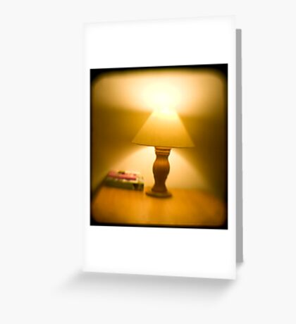 Table Lamp - TTV (ARGUS) Greeting Card