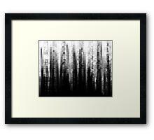 Broken Pixels Framed Print