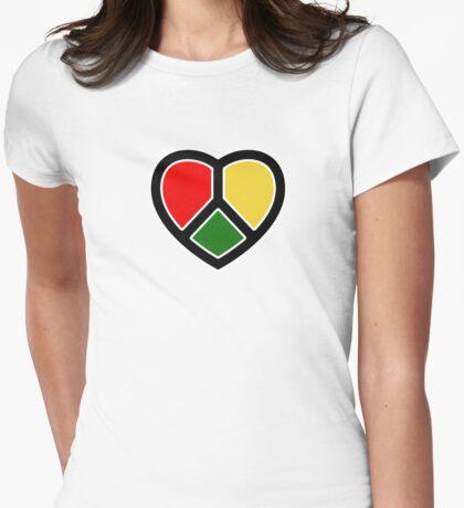 Rasta heart!  Womens Fitted T-Shirt