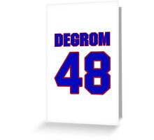 National baseball player Jacob deGrom jersey 48 Greeting Card