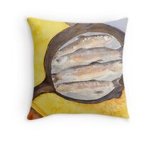 A Good Day at the Lake Throw Pillow