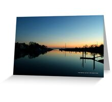 Evening View On Areskonk Creek From Sedgemere Road Bridge | Center Moriches, New York  Greeting Card