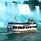 Maid of the Mist by the American Falls by paulchaperon