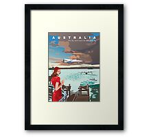 Rose Bay and flying boats, 1945 Framed Print