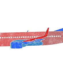 Boeing 737 - Red White & Blue by vidicious