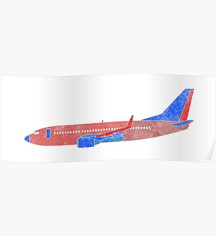 Boeing 737 - Red White & Blue Poster
