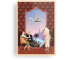 Art Deco Flying Boat - Havana, Cuba Metal Print