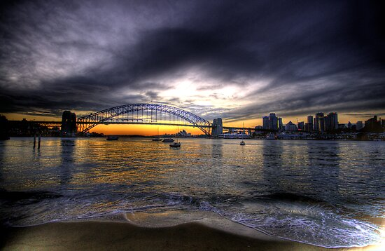 Moods Of A City - The HDR Series - Sydney Harbour, Sydney Australia by Philip Johnson