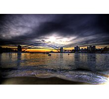Moods Of A City - The HDR Series - Sydney Harbour, Sydney Australia Photographic Print