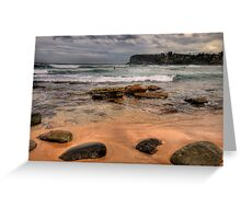 Sydney Beaches - The HDR Series, Avalon Beach, Sydney Australia Greeting Card