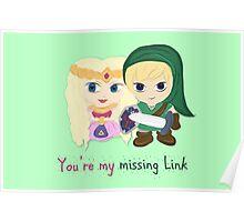 Link & Zelda Valentines: Missing Link Poster