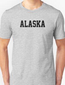 Alaska Jersey Font Black T-Shirt