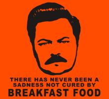 Ron Swanson- Breakfast Food by mindyjhicks
